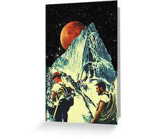Hike to Mars Greeting Card