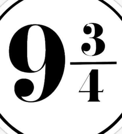 Nine and Three Quarters Sticker