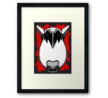 Kiss Bull Terrier Gene Simmons  Framed Print