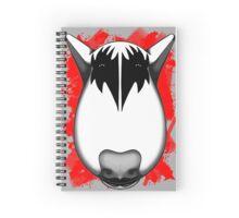 Kiss Bull Terrier Gene Simmons  Spiral Notebook