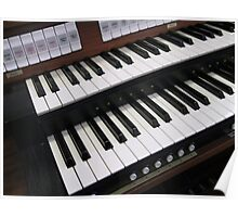 Rows of Keys - Section of Organ Keyboard Poster