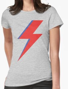 Aladdin Sane - Lightning bolt Womens Fitted T-Shirt