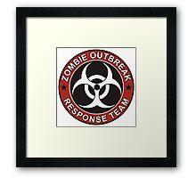 Zombie Outbreak Response Team Framed Print
