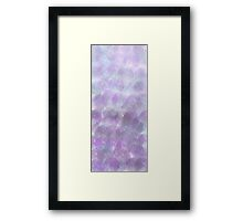 blue and purple bubble ombré pattern Framed Print