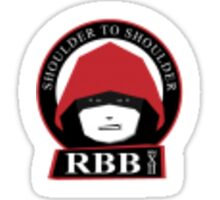 Red and Black Bloc | RBBStickers Sticker