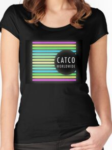 Catco Worldwide - Rainbow logo Women's Fitted Scoop T-Shirt