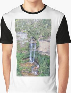 Blue Mountains Waterfall - NSW, Australia Graphic T-Shirt