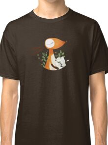 Fox and White Rose Classic T-Shirt