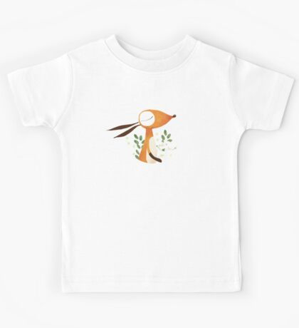 Fox and White Rose Kids Tee
