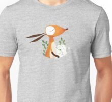 Fox and White Rose Unisex T-Shirt