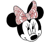 Mandala Minnie Mouse Photographic Print