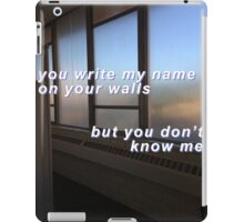 You don't know me iPad Case/Skin