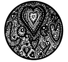 Valentine Circle of Hearts Aussie Tangle Transparent Photographic Print