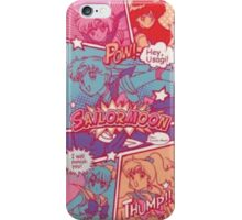 Sailor moon comic strip iPhone Case/Skin