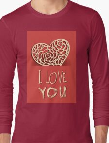 Valentines day card vector background Long Sleeve T-Shirt