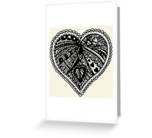 Valentine Heart 3 Aussie Tangle - Choose Your Own Background Colour  Greeting Card