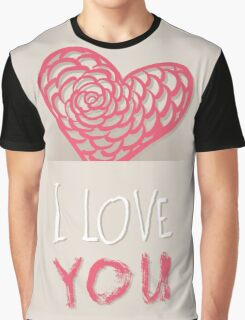 Valentines day card vector background Graphic T-Shirt