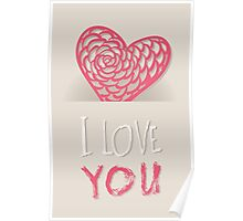 Valentines day card vector background Poster