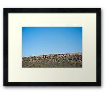 Driving Uphill Framed Print