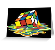 Sheldon Cooper Melting Rubik's Cube  Greeting Card