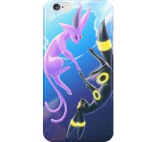 Day and Night Espeon and Umbreon iPhone Case/Skin