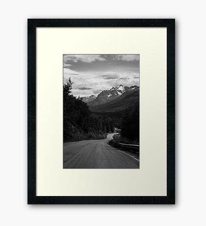 Alaskan backroads Framed Print