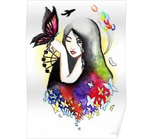 With Butterflies Poster