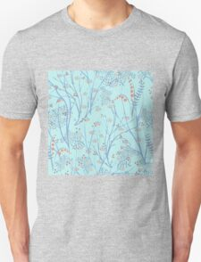 floral background. apples berries branch seamless ornament T-Shirt
