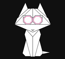 Origami Cat Womens Fitted T-Shirt