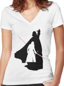 Darth Vader / Kylo Ren Women's Fitted V-Neck T-Shirt