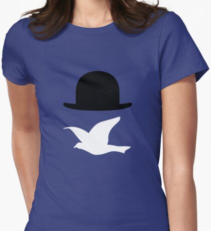 Rene Magritte 2 Womens Fitted T-Shirt