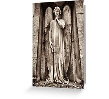 crypt guardian angel Greeting Card