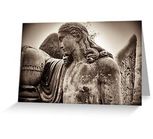 angel mourns Greeting Card
