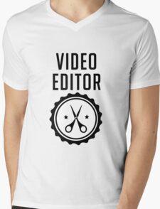 Video Editor Mens V-Neck T-Shirt