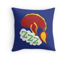 Sleeping Fish Red Throw Pillow