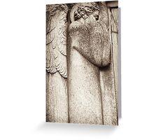 archangel in deep communion Greeting Card