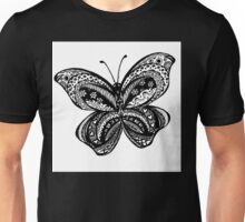 Butterfly Aussie Tangle Black & White  Unisex T-Shirt