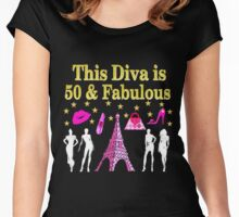 FABULOUS 50TH PARIS DESIGN Women's Fitted Scoop T-Shirt