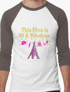 FABULOUS 50TH PARIS DESIGN Men's Baseball ¾ T-Shirt