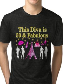 FABULOUS 50TH PARIS DESIGN Tri-blend T-Shirt