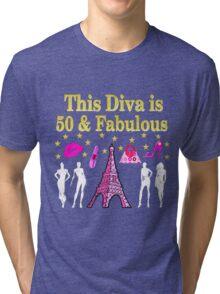 FABULOUS 50TH PARIS DESIGN Tri-blend T-Shirt