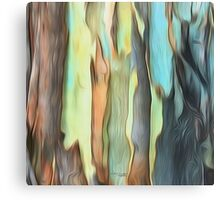 Abstract colours of the Bush Canvas Print