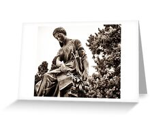 muse of arts Greeting Card