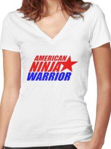 american ninja warrior Women's Fitted V-Neck T-Shirt