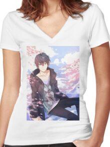 Super Sweet Haruka Women's Fitted V-Neck T-Shirt
