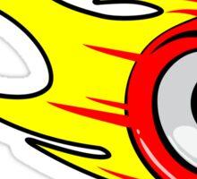 Flaming Skate Wheel, Red Sticker