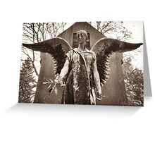 angel of fate with myrtle wreath Greeting Card