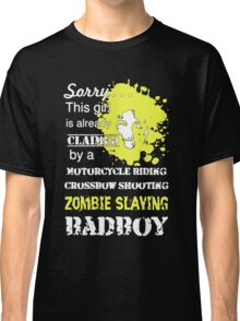 Zombies Slaying Badboy Classic T-Shirt