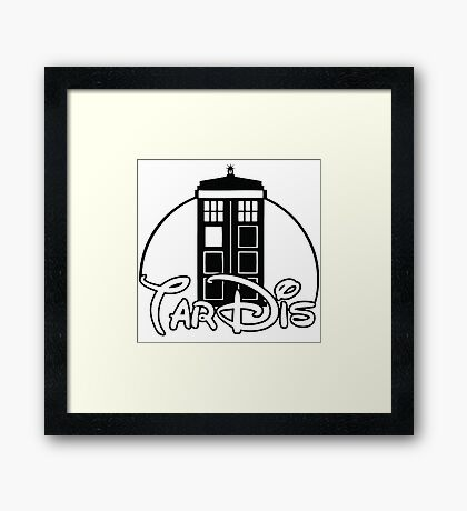 Tardis Dr Who Framed Print