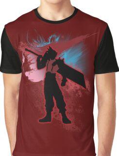 Super Smash Bros. Red Cloud Silhouette Graphic T-Shirt